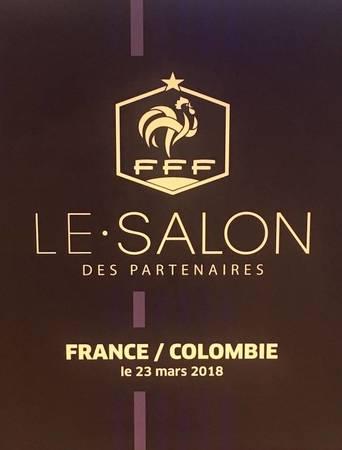 """Eventeam Live réalisations : France - Colombie : Eventeam Live fait vivre """"l'expérience bleue"""" au coeur du salon des partenaires de la FFF"""