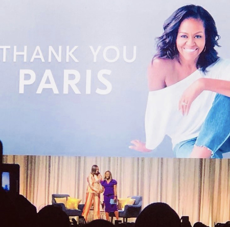 Eventeam Live réalisations : « Becoming : Une Conversation Intime avec Michelle Obama »