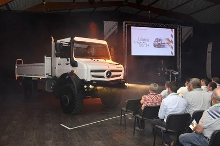 Eventeam Creativ réalisations : Evénement clients et presse pour Mercedes-Benz Unimog